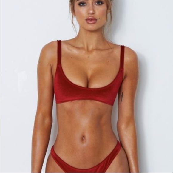 72f591941 White Fox Boutique Swim | White Fox Isla Bikini Top Red Velvet Xs ...